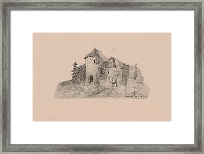 Rural English Dwelling Framed Print