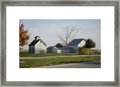 Rural Farm Central Il Framed Print by Thomas Woolworth