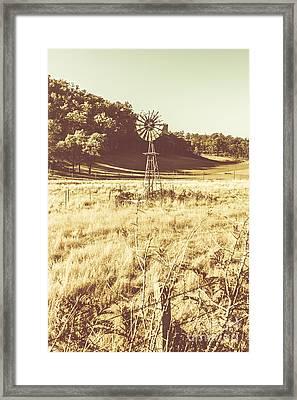 Rural Farm Ranch Framed Print by Jorgo Photography - Wall Art Gallery