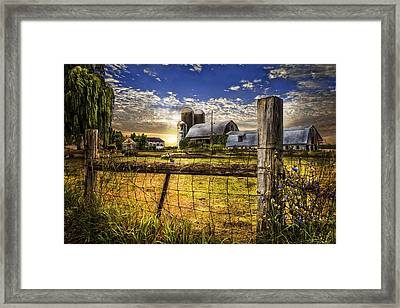 Rural Farms Framed Print by Debra and Dave Vanderlaan