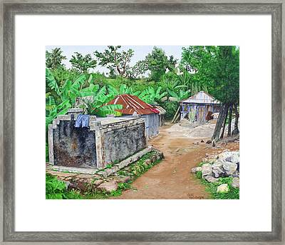 Rural Haiti - A Study In Poignancy Framed Print