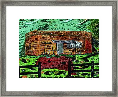 Rural Hide Out Framed Print