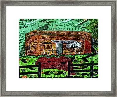 Rural Hide Out Framed Print by Adolfo hector Penas alvarado