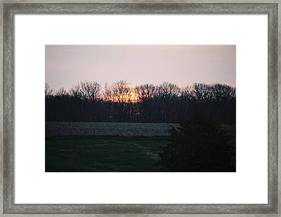 Rural Illinois Sunset Framed Print by C E McConnell