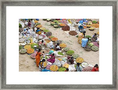 Rural Indian Food Market Framed Print by Tim Gainey