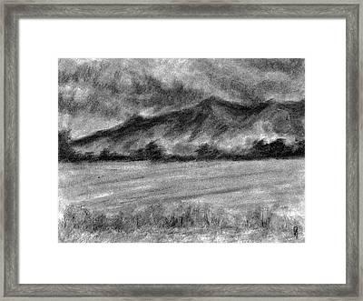 Rural Landscape Study Framed Print