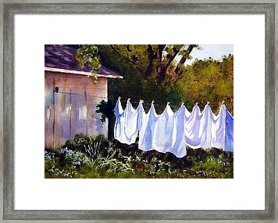 Rural Laundromat Framed Print