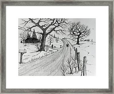 Rural Living Framed Print
