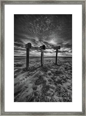 Rural Mail Framed Print by Ian McGregor