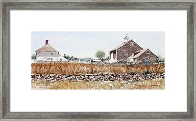 Rural Maine Framed Print by Monte Toon