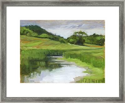 Rural Marsh Framed Print