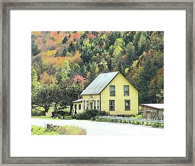 Rural New England Framed Print by Betty LaRue