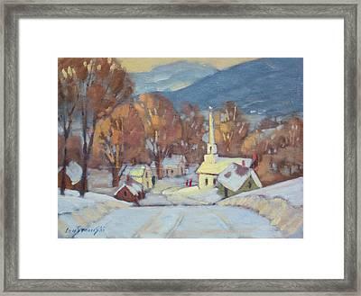 Rural New England Framed Print by Len Stomski