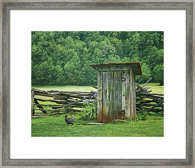 Framed Print featuring the photograph Rural Outhouse by Nikolyn McDonald