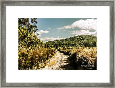 Rural Paths Out Yonder Framed Print