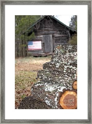 Rural Patriotism Framed Print