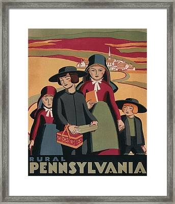 Rural Pennsylvania - Vintage Wpa Travel Framed Print by War Is Hell Store