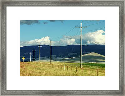 Rural Power Line Framed Print