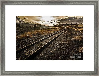 Rural Rail Line Framed Print