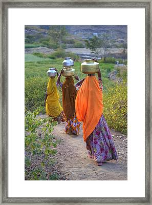 rural Rajasthan Framed Print by Joana Kruse