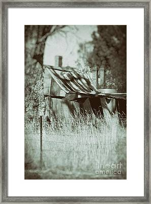 Framed Print featuring the photograph Rural Reminiscence by Linda Lees