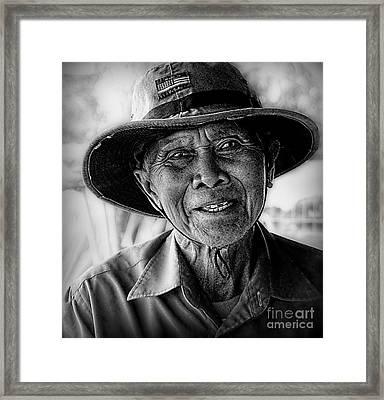 Rural Rice Farmer Framed Print