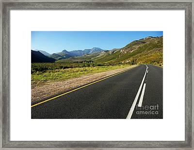 Rural Road Framed Print by Sami Sarkis
