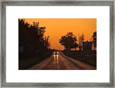 Rural Road Trip Framed Print by Steve Gadomski