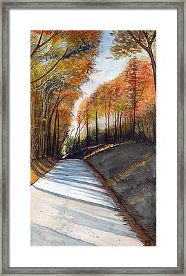 Rural Route In Autumn Framed Print