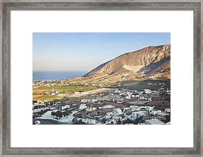 Rural Santorini Village Framed Print
