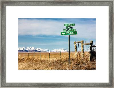 Rural Sign Post Framed Print by Todd Klassy