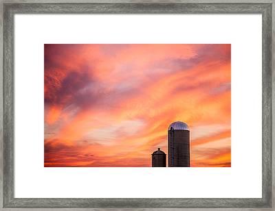 Rural Skies Framed Print