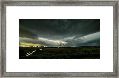 Rural Spring Storm Over Chester Nebraska Framed Print