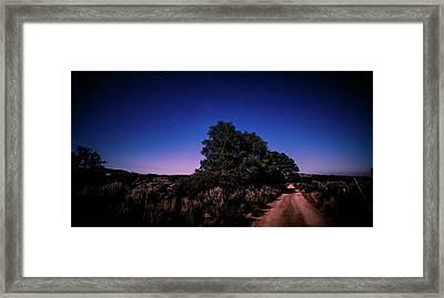 Rural Starlit Road Framed Print