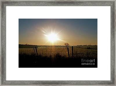 Rural Sunrise Framed Print by Sue Stefanowicz