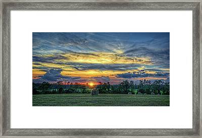 Framed Print featuring the photograph Rural Sunset by Lewis Mann