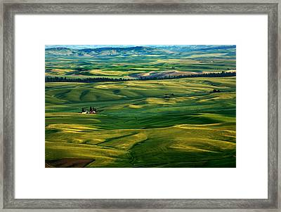 Rural Tapestry Framed Print by Mike  Dawson