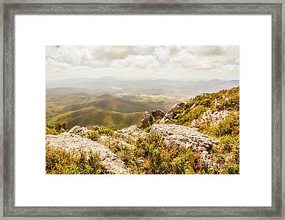 Rural Town Valley Framed Print