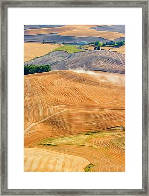 Rural Traffic Framed Print by Mike  Dawson