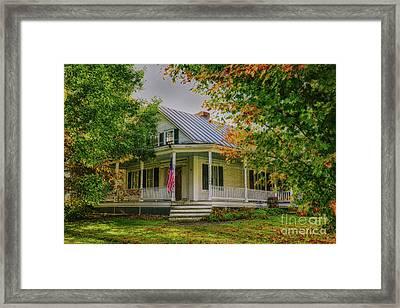 Framed Print featuring the photograph Rural Vermont Farm House by Deborah Benoit