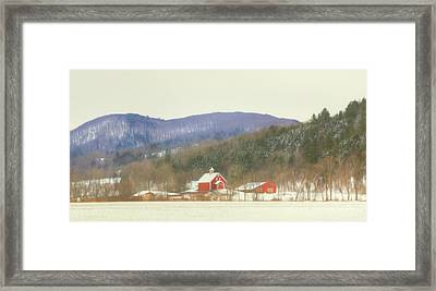 Framed Print featuring the digital art Rural Vermont by Sharon Batdorf