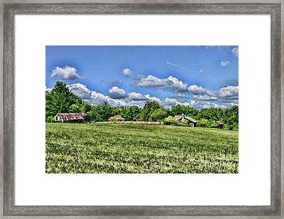 Framed Print featuring the photograph Rural Virginia by Paul Ward