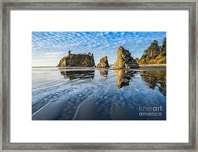 Ruby Beach Reflection Framed Print