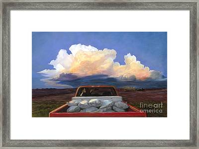 Rush Framed Print by Christian Vandehaar