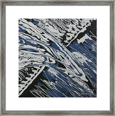 Framed Print featuring the painting Rush Drip by Cathy Beharriell