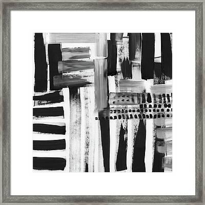 Rush Hour- Art By Linda Woods Framed Print