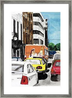 Rush Hour Framed Print by Cathy Jourdan