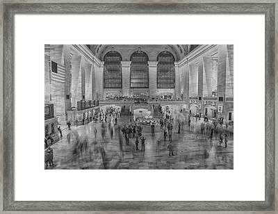 Rush Hour Grand Central St Framed Print