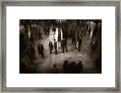 The Conversation Framed Print by Jessica Jenney