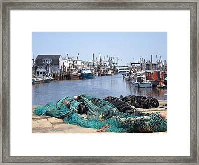 Rush Hour In Compton's Creek, New Jersey Framed Print by Mary Stanford